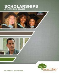 ScholarShipS - Pacific Oaks College