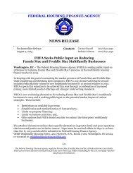 FHFA Seeks Public Input on Reducing Fannie Mae and Freddie Mac ...