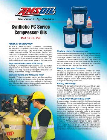 Synthetic PC Series Compressor Oils