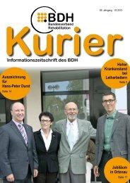 Kurier 1/2 2013 - BDH Bundesverband Rehabilitation