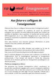 Guide pratique de l'engagement - SSP - Vaud / Syndicat des ...