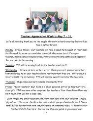 Teacher Appreciation Week is May 7 – 11.