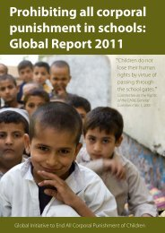 Prohibiting all corporal punishment in schools: Global Report 2011