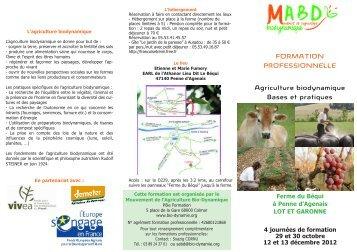 Stage d'Agriculture Bio-dynamique - Agir pour le vivant