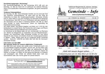 404 - kath. Pfarrgemeinde St. Johannes