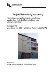 2 MB 13 August, 2013 Slutrapport för Lagersberg hus 222 - BeBo