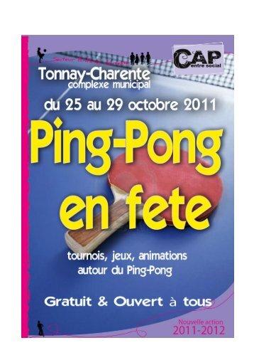 Plaquette ping – pong en fête - Fédération des Centres Sociaux de ...