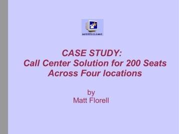 Local studies call center