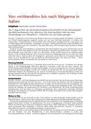Gemeindenachrichten 23.09.2011 - Gemeinde Schüpfheim