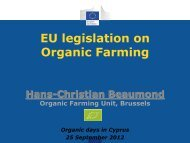 EU Legislation on Organic Farming – DG ... - ORGANIC DAYS