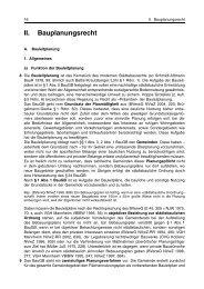 II. Bauplanungsrecht