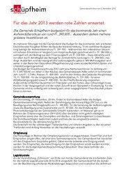 Gemeindenachrichten 02.11.2012 - Gemeinde Schüpfheim