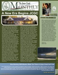 A New Era Begins JCGC - Jones Creek Owners Association