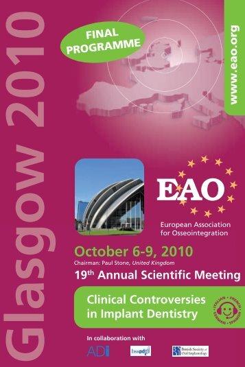 October 6-9, 2010 - Colloquium
