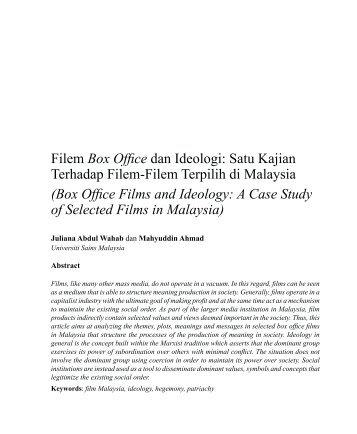 Filem Box Office dan Ideologi - Wacana Seni - Universiti Sains ...