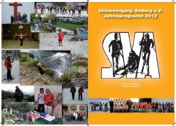 Skivereinigung Amberg e.V. Jahresprogramm 2012