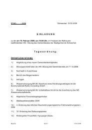 EINLADUNG Tagesordnung: - Stadtgemeinde Schwechat