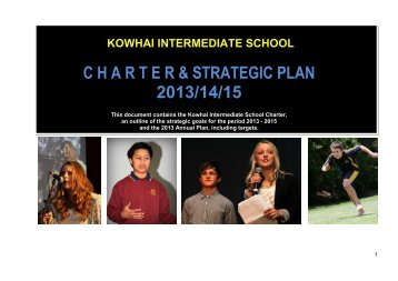 to view the Charter - Kowhai Intermediate School