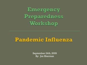 September 24th, 2009 By: Jon Sherman - I Will Prepare