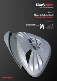 Download the Shape to Fabrication 2 Agenda - Simply Rhino