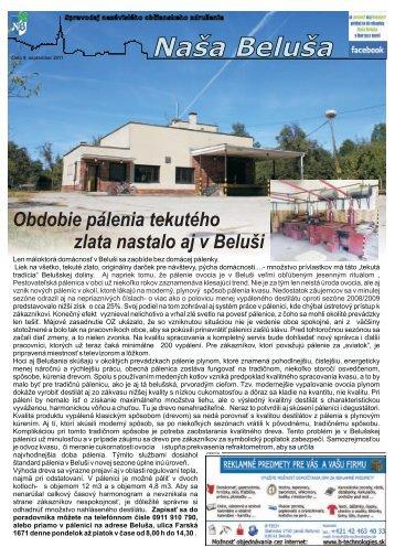 Naša Beluša 9/2011 v elektronickej podobe (pdf)