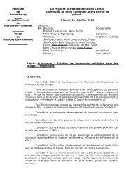 Objet : Urbanisme – Création de logements multiples dans les ...