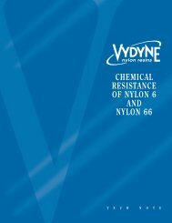 Chemical Resistance of Nylon 6 and Nylon 66
