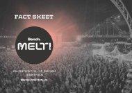 Fact-Sheet des Melt! Festivals