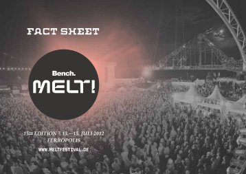 Fact-Sheet des Melt! Festivals
