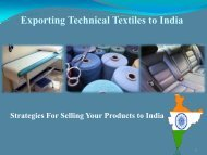 Exporting Technical Textiles to India - Office of Textiles and Apparel