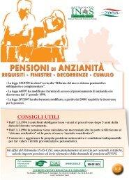 Pensioni di anzianità, un opuscolo dell'Inas - Fnp – Cisl Pensionati ...