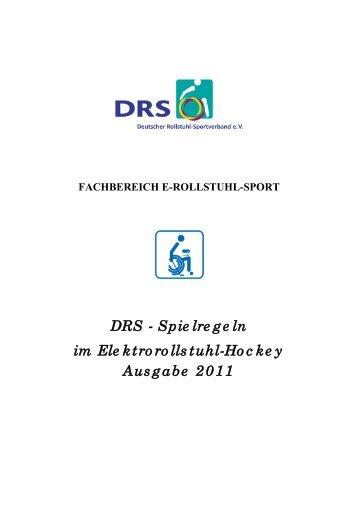 Regelwerk 2011 - Elektro-Rollstuhl-Hockey.de