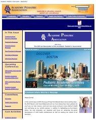April 2012 - Academic Pediatric Association
