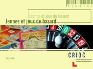 Jeunes et jeux de hasard - Crioc