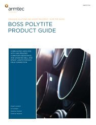 BoSS PolYtite ProDuCt guiDe - Armtec