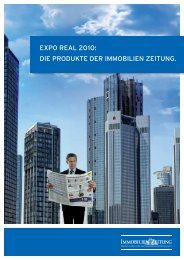 EXPO REAL 2010: DIE PRODUKTE DER IMMOBILIEN ZEITUNG.