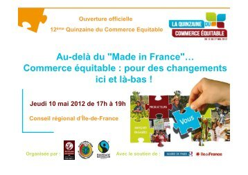 """Made in France""… Commerce équitable - la Plate-Forme pour le ..."