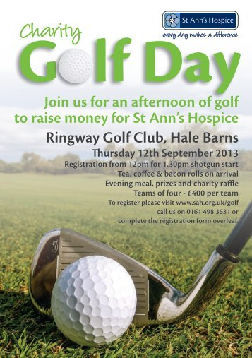 Join us for an afternoon of golf to raise money for St Ann's Hospice ...