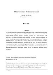 Military burden and the democracy puzzle - Cliometric Society