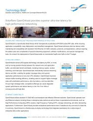 Solarflare OpenOnload vs. RDMA over Converged Ethernet (RoCE)