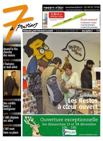 n° 58 voir ce numéro - 7 à Poitiers
