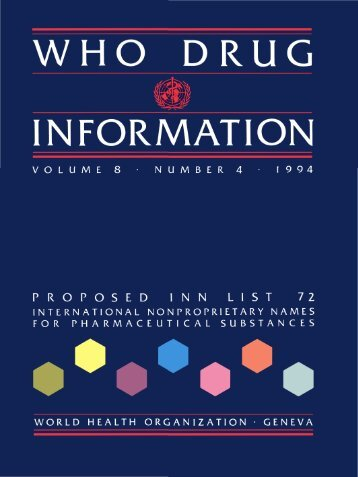 WHO DRUG INFORMATION - World Health Organization