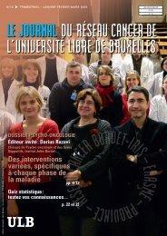 DOSSIER PSYCHO-ONCOLOGIE - Institut Jules Bordet Instituut