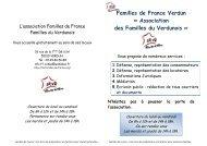 Association des Familles du Verdunois - Familles de France Meuse