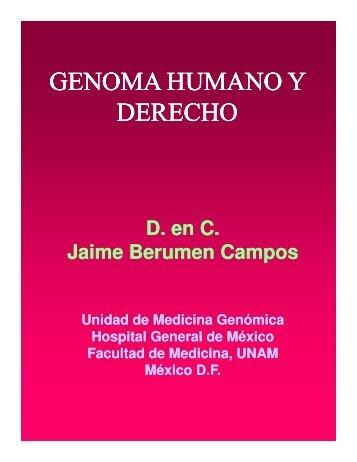 genoma humano y derecho genoma humano y ... - Reposital - UNAM