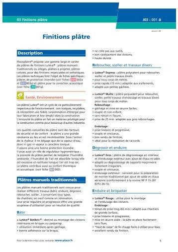 Decore Placo Plâtre : Finitions plâtre placo