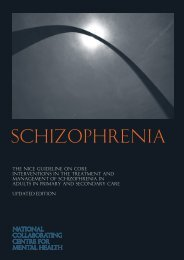 Schizophrenia - National Collaborating Centre for Mental Health