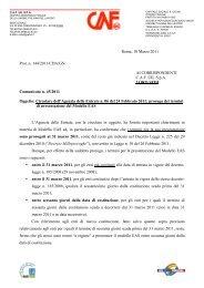 Roma, 10 Marzo 2011 Prot. n. 144/2011/CDA/GN AI ... - uil varese