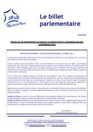 Projet loi renforçant droits consommateurs - Familles de France