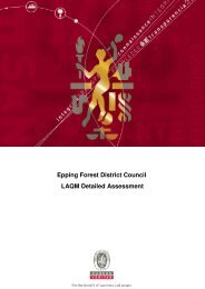 Epping Forest District Council LAQM Detailed Assessment - Essex Air